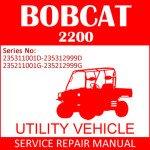 Bobcat 2200 Utility Vehicle Service Manual PDF SN 235311001D-235211001G