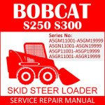 Bobcat S250 S300 Skid Steer Loader Service Manual PDF SN A5GM11001-A5GR11001